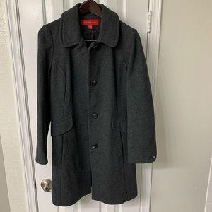 Ladies gray wool coat